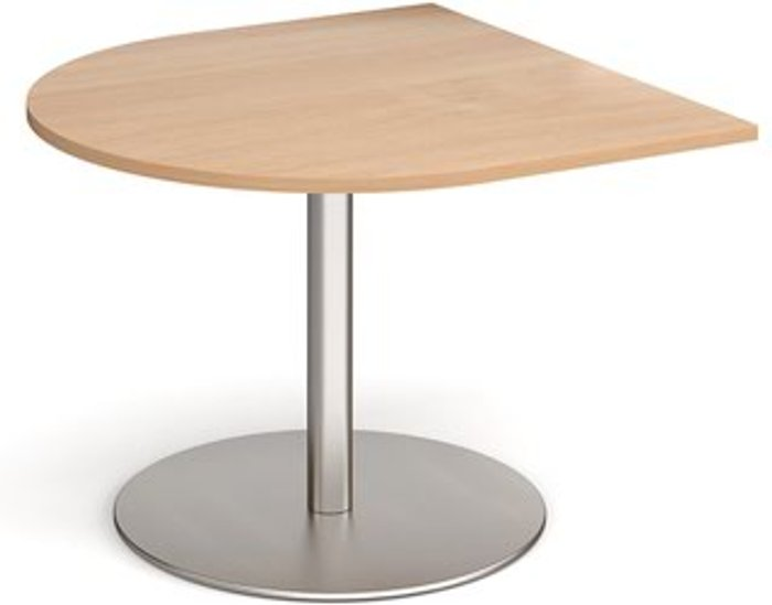 Eternal Eternal radial extension table 1000mm x 1000mm - brushed steel base and beech top