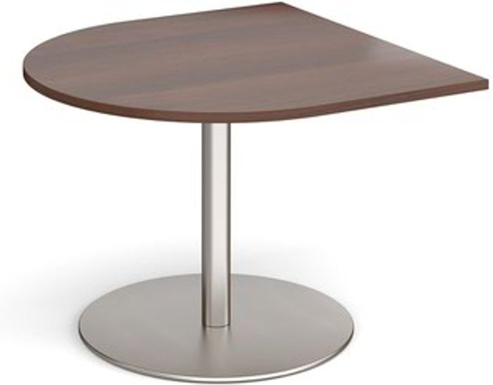 Eternal Eternal radial extension table 1000mm x 1000mm - brushed steel base and walnut top