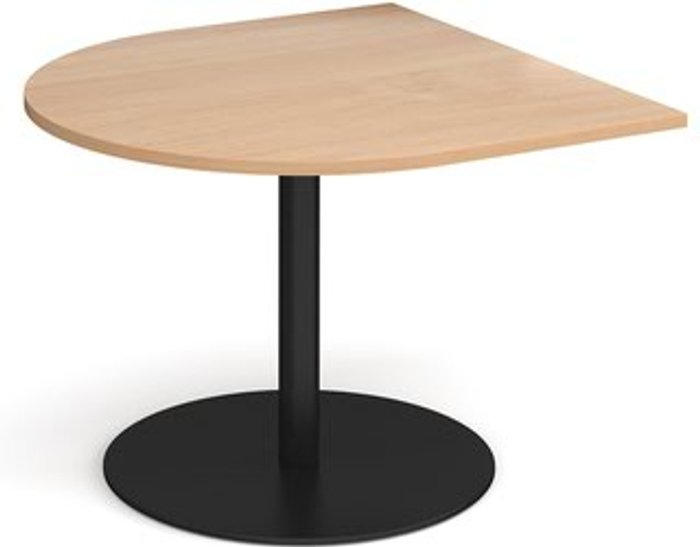 Eternal Eternal radial extension table 1000mm x 1000mm - black base and beech top