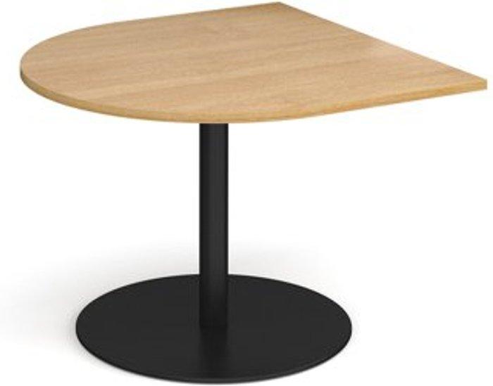 Eternal Eternal radial extension table 1000mm x 1000mm - black base and oak top