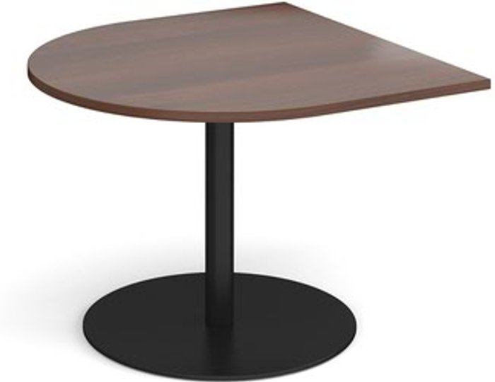 Eternal Eternal radial extension table 1000mm x 1000mm - black base and walnut top
