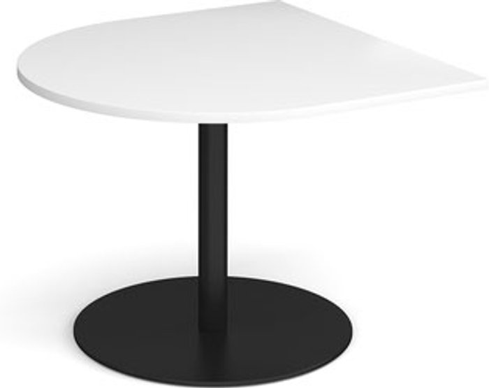 Eternal Eternal radial extension table 1000mm x 1000mm - black base and white top