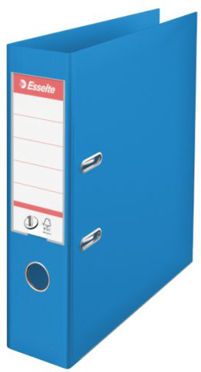 Esselte Esselte 75mm Lever Arch File Polypropylene A4 Blue (Pack of 10) 48065
