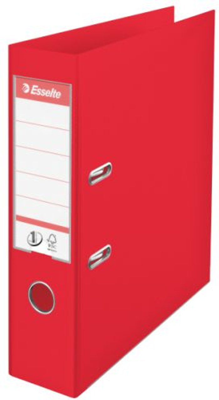 Esselte Esselte 75mm Lever Arch File Polypropylene A4 Red (Pack of 10) 48063