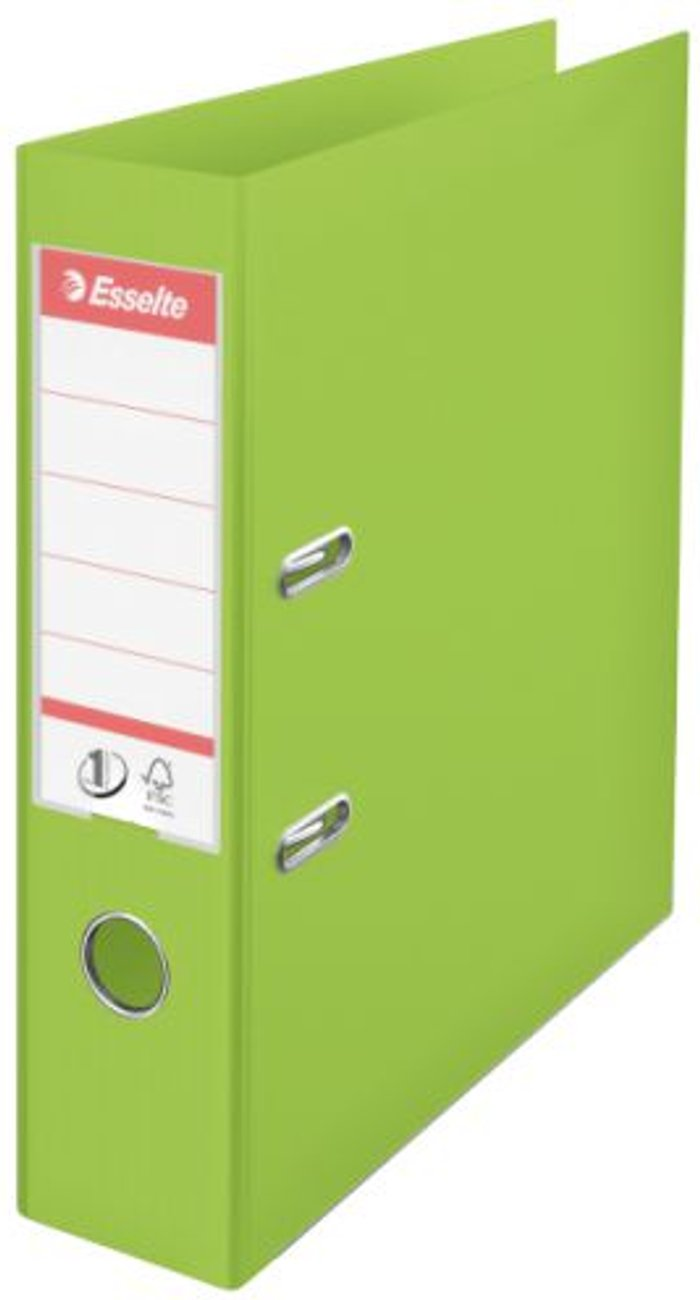 Esselte Esselte 75mm Lever Arch File Polypropylene A4 Green (Pack of 10) 624069