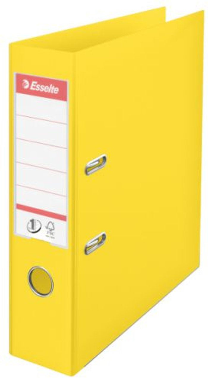Esselte Esselte 75mm Lever Arch File Polypropylene A4 Yellow (Pack of 10) 48061