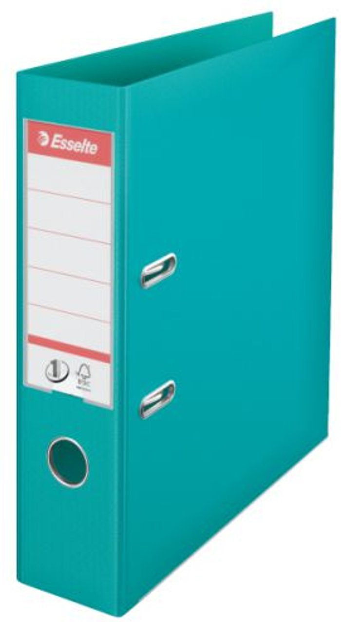 Esselte Esselte 75mm Lever Arch File Polypropylene A4 Turquoise (Pack of 10) 811550