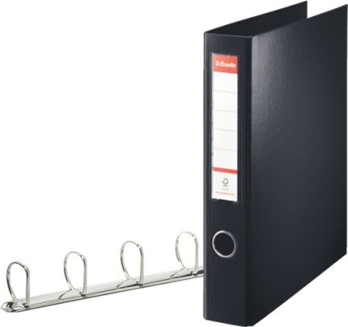 Esselte Esselte 4D-Ring Maxi A4 Binder 40mm Black (Features 4 D-ring mechanism and a linen feel cover) 82407