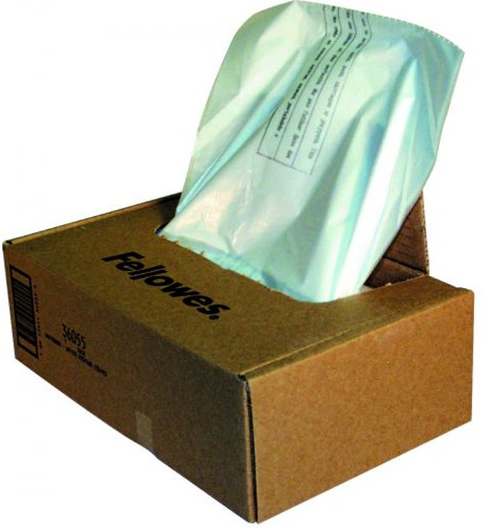 Fellowes Fellowes Shredder Wastebags 100-165L Approx (Pack of 50) 36055