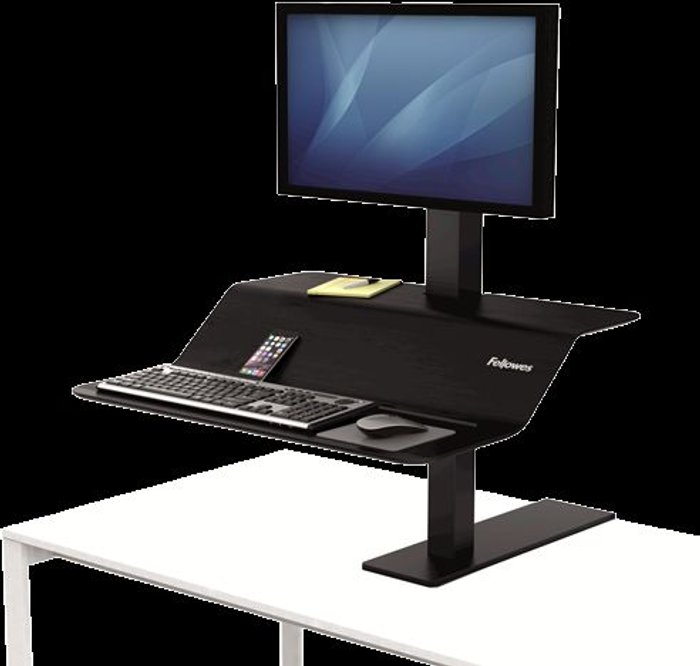 Fellowes Fellowes Lotus VE Sit-Stand Workstation Single 8080101