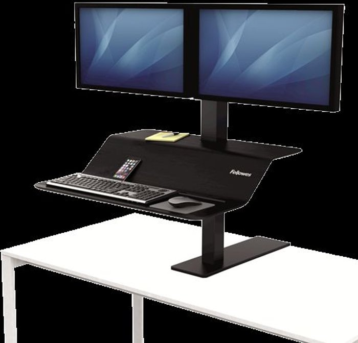 Fellowes Fellowes Lotus VE Sit-Stand Workstation Dual 8082001
