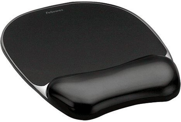 Fellowes Fellowes Crystals Gel Mouse Pad Black 9112101
