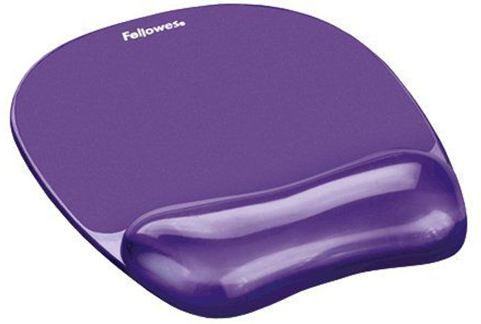 Fellowes Fellowes Crystals Gel Mouse Pad Purple 9144103