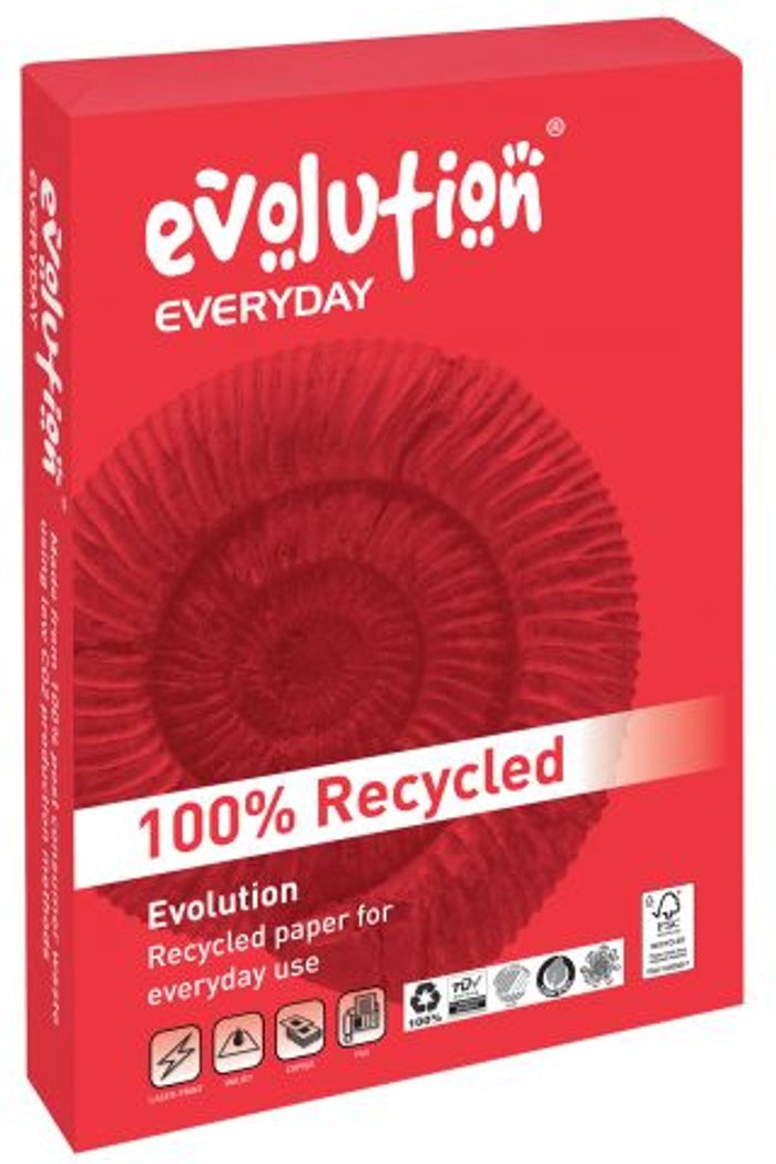 Evolution Evolution Everyday A4 Recycled Paper 80gsm White (Pack of 2500) EVE2180
