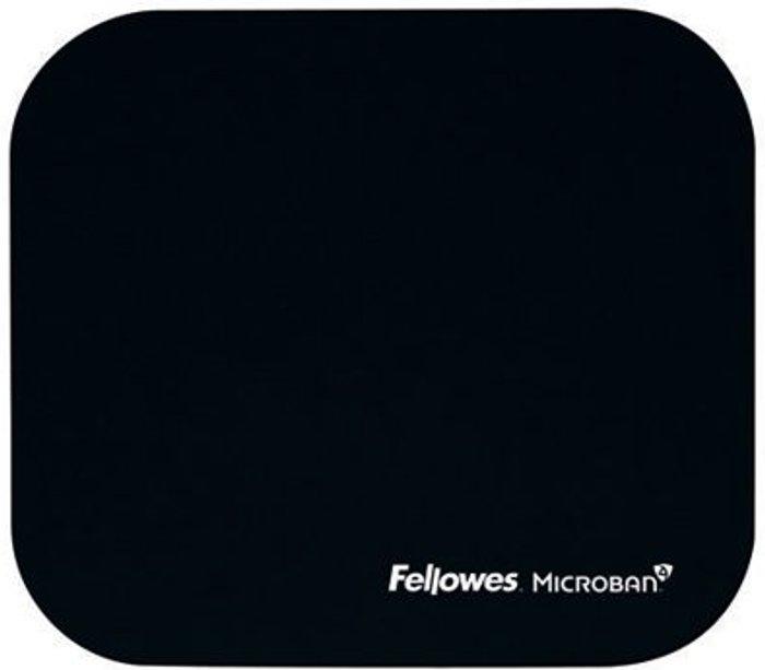 Fellowes Fellowes Microban Antibacterial Mouse Mat Black 5933905