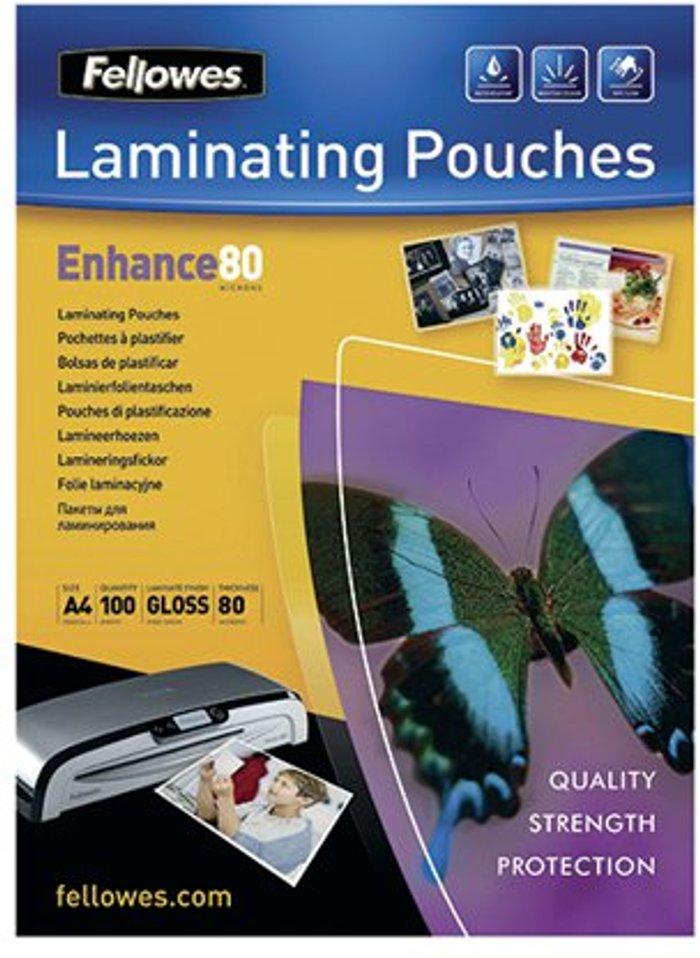 Fellowes Fellowes A4 Self Adhesive Enhance Laminating Pouches(Pack of 100)53022