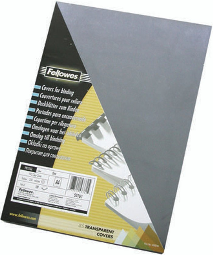 Fellowes Fellowes Transpsarent Plastic Covers 150 Micron (Pack of 100) 5376001