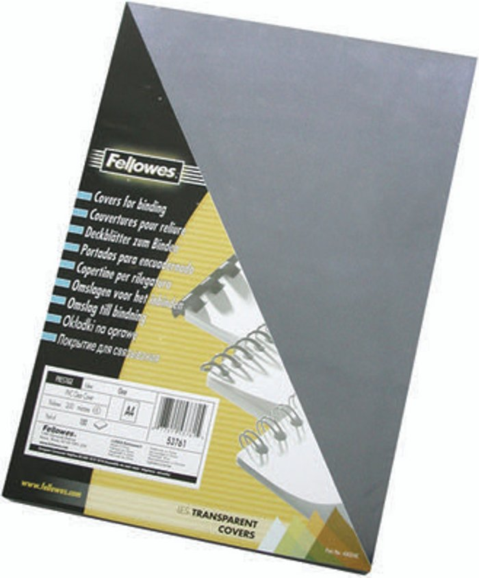 Fellowes Fellowes Transpsarent Plastic Covers 240 Micron (Pack of 100) 53762