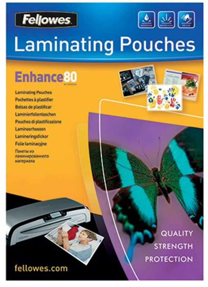 Fellowes Fellowes A4 Enhance Laminating Pouches 160 Micron (Pack of 25) 53962
