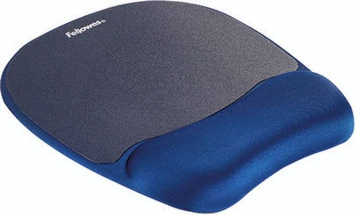 Fellowes Fellowes Memory Foam Mouse Pad Wrist Support Sapphire Blue 9172801