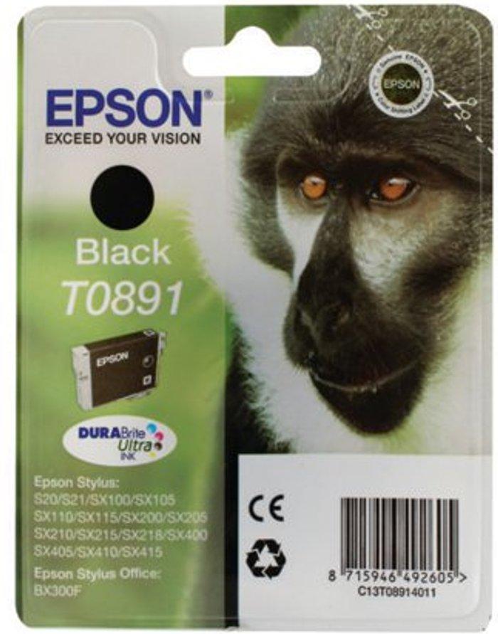 Epson Epson T0891 Black Ink Cartridge C13T08914011 / T0891