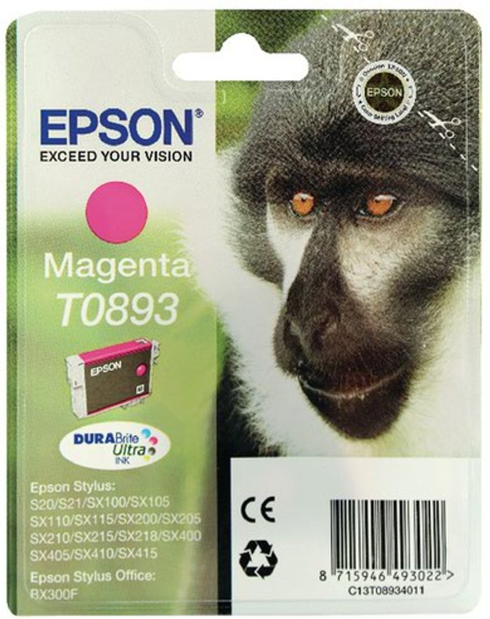 Epson Epson T0893 Magenta Ink Cartridge C13T08934011 / T0893