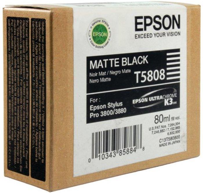 Epson Epson T5808 Matte Black Inkjet Cartridge C13T580800 / T5808