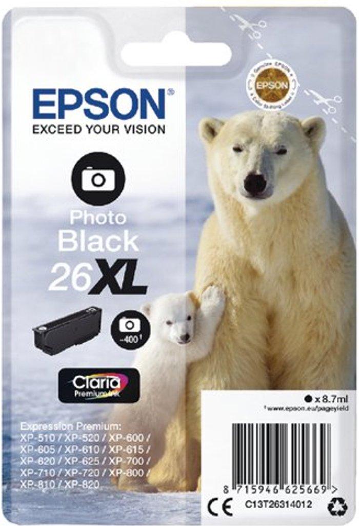 Epson Epson 26XL Photo Black Inkjet Cartridge C13T26314012