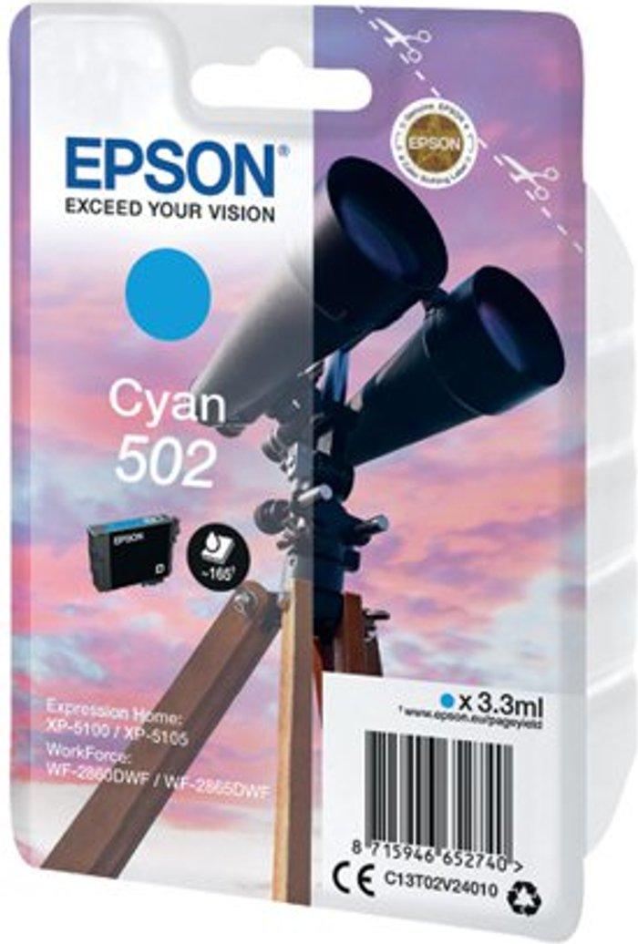 Epson Epson Singlepack 502 Ink Cyan C13T02V24010