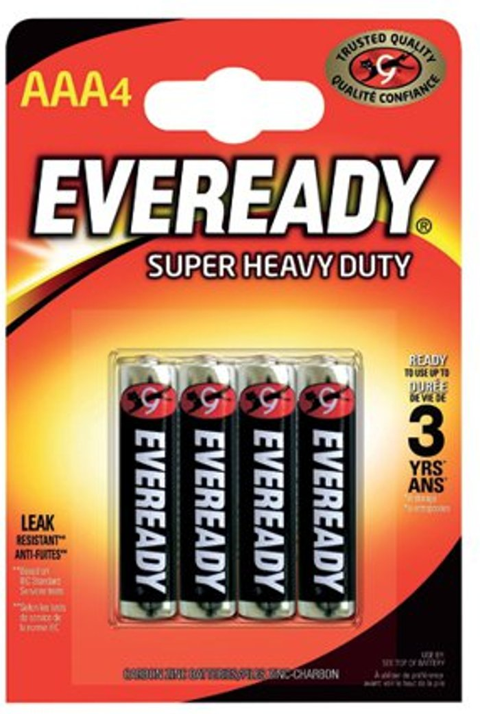 Eveready Eveready Super Heavy Duty AAA Batteries (Pack of 4) RO3B4UP