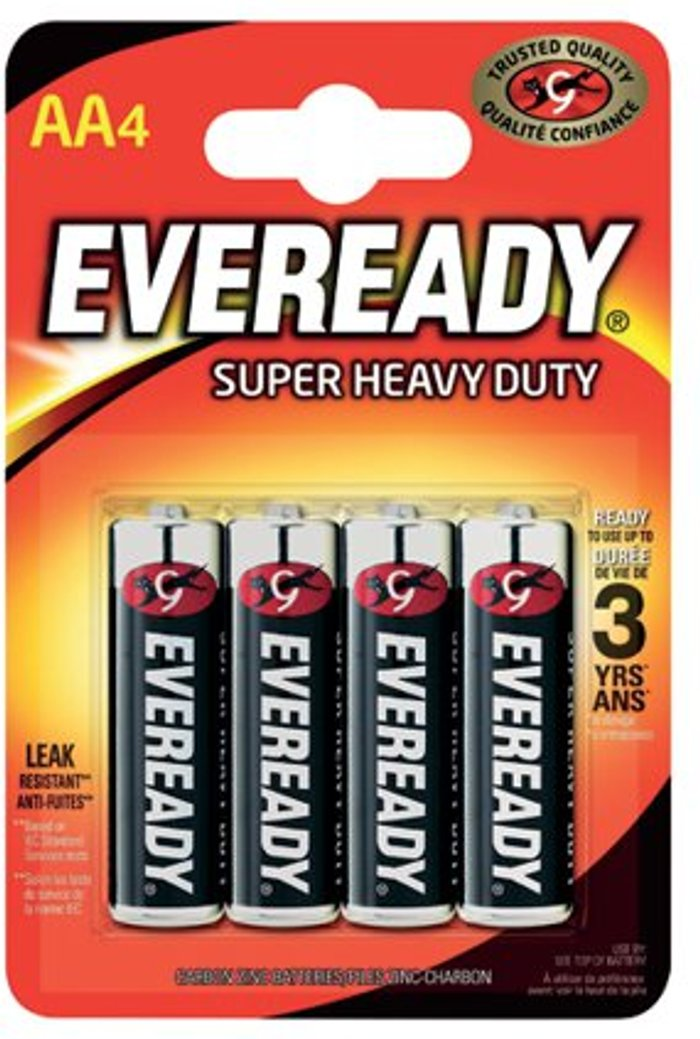 Eveready Eveready Super Heavy Duty AA Batteries (Pack of 4) R6B4UP