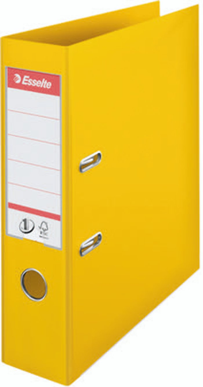 Esselte Esselte No1 Lever Arch File Slotted 75mm A4 Yellow (Pack of 10) 811310