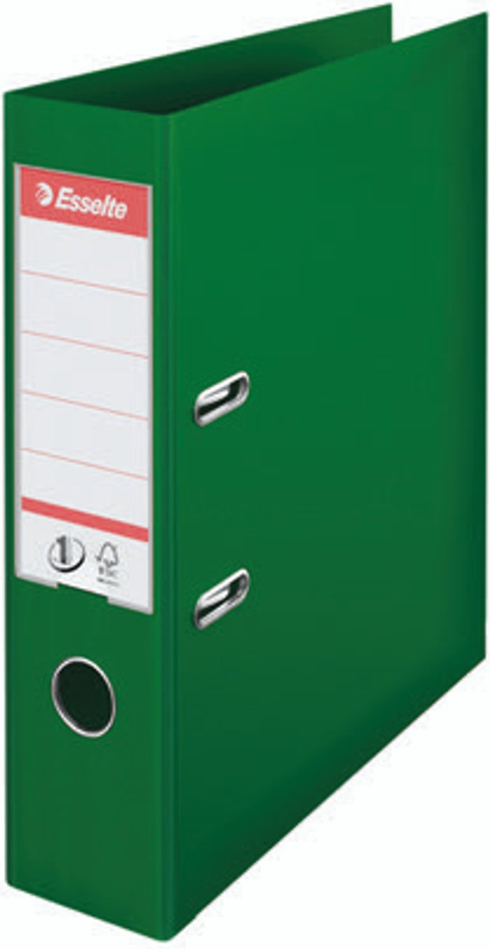 Esselte Esselte No 1 Lever Arch File Slotted 75mm A4 Green (Pack of 10) 811360
