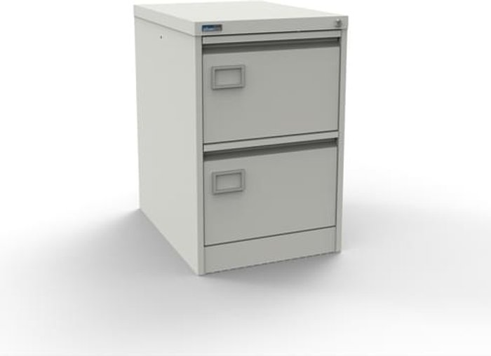 Executive Silverline Executive 2 Drawer Individually Locking Foolscap Filing Cabinet - White