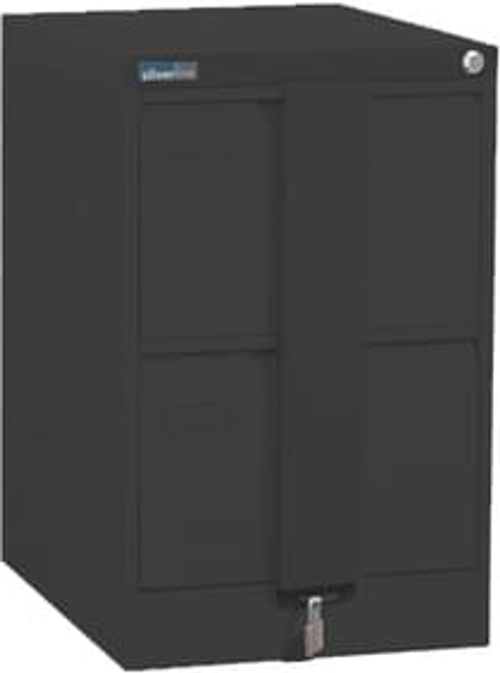 Executive Silverline Executive 2 Drawer Foolscap Filing Cabinet with Security Bar - Graphite Grey