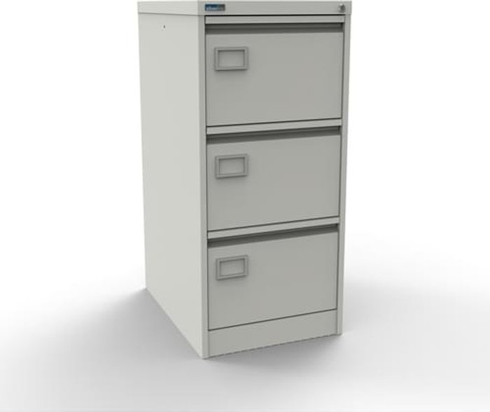 Executive Silverline Executive 3 Drawer Individually Locking Foolscap Filing Cabinet - White
