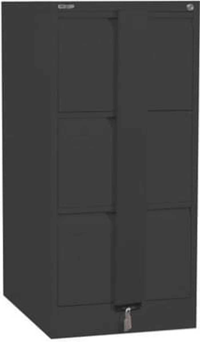 Executive Silverline Executive 3 Drawer Foolscap Filing Cabinet with Security Bar - Graphite Grey