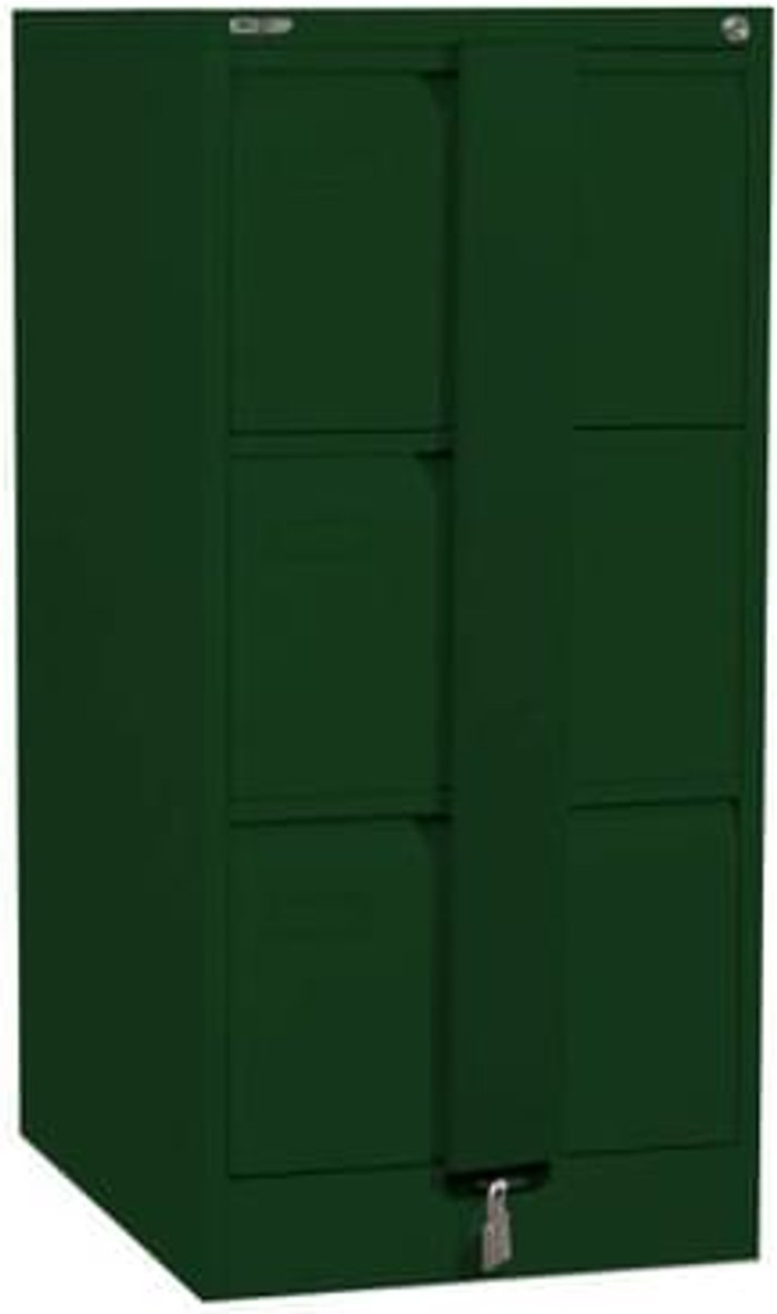 Executive Silverline Executive 3 Drawer Foolscap Filing Cabinet with Security Bar - British Racing Green