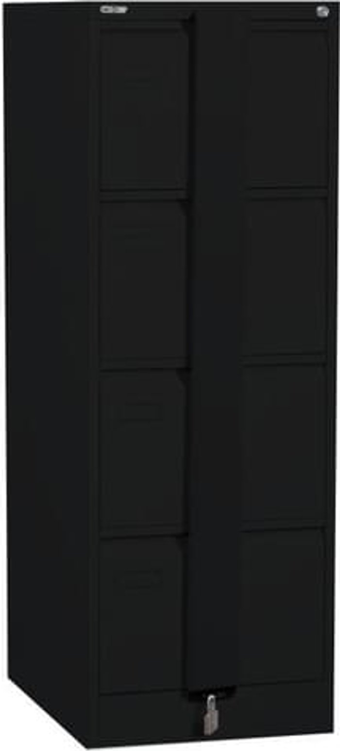 Executive Silverline Executive 4 Drawer Foolscap Filing Cabinet with Security Bar - Black