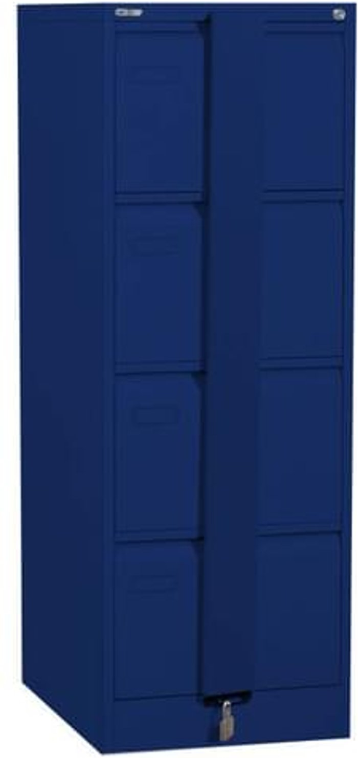 Executive Silverline Executive 4 Drawer Foolscap Filing Cabinet with Security Bar - Blue
