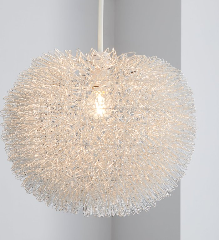 Dunelm Urchin Ball Silver Easy Fit Pendant Silver