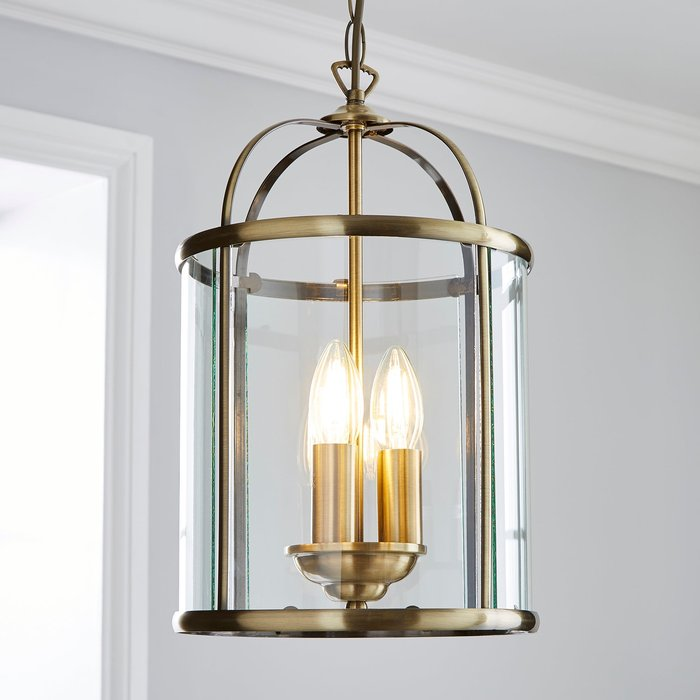 Dunelm Hurricane 3 Light Pendant Antique Brass Ceiling Fitting Bronze