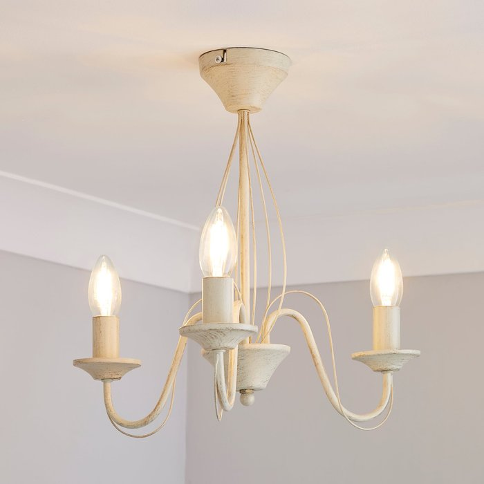 Dunelm 3 Light Candelabra Cream Ceiling Fitting Cream