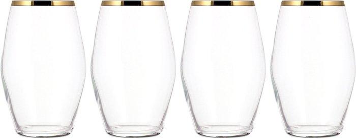 Hotel Gold Pack of 4 Highball Glasses Gold