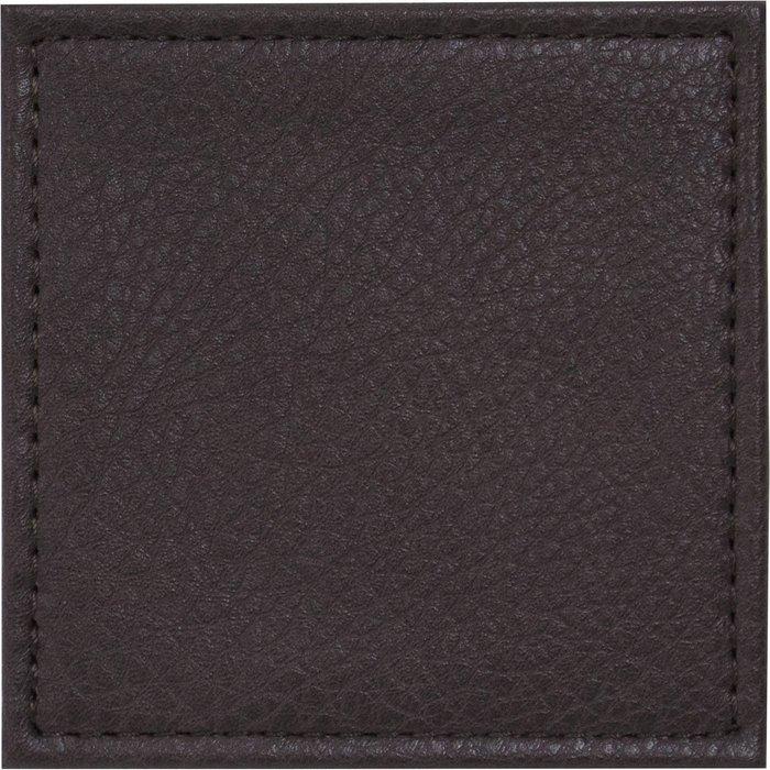 Dunelm Set of 4 Faux Vintage Leather Coasters Brown