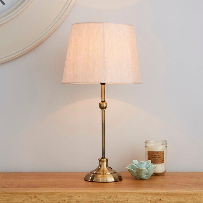 Dunelm Metal Ball Antique Brass Table Lamp Antique Brass