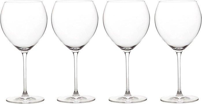 Dunelm Elegance Pack of 4 Burgundy Wine Glasses Burgundy (Brown)