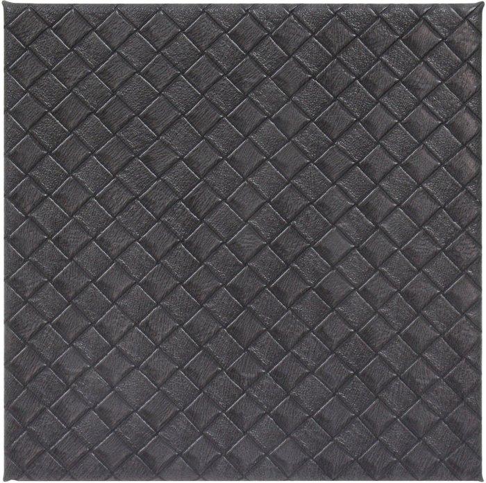 Dunelm Grey Weave Pack of 4 Coasters Grey