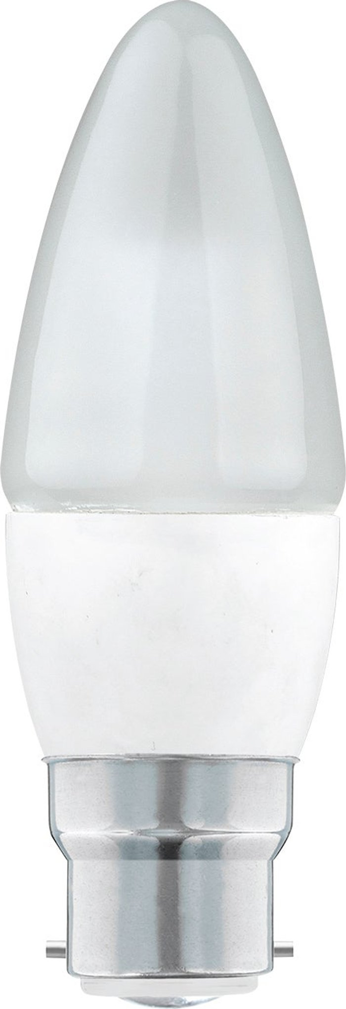 Dunelm Dunelm 5.5 Watt LED BC Pearl Candle Bulb 3 Pack Clear