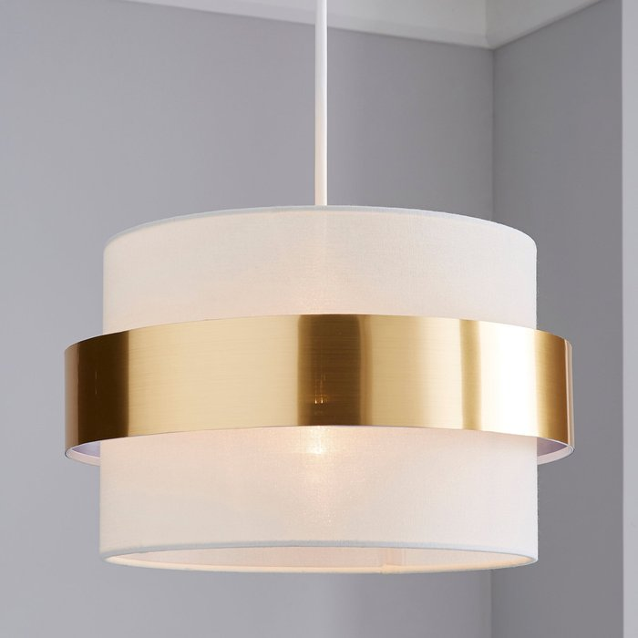 Dunelm Joey Gold Easy Fit Pendant Gold